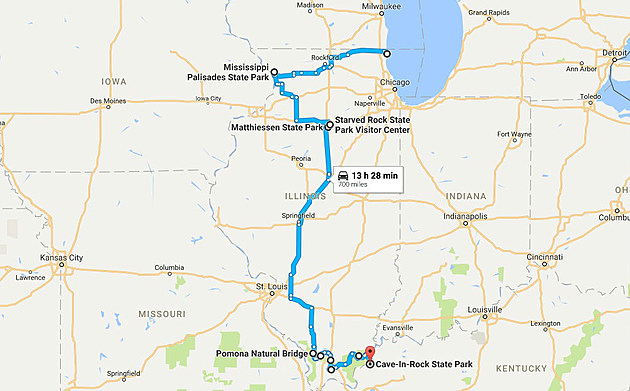 google maps fall road trip illinois