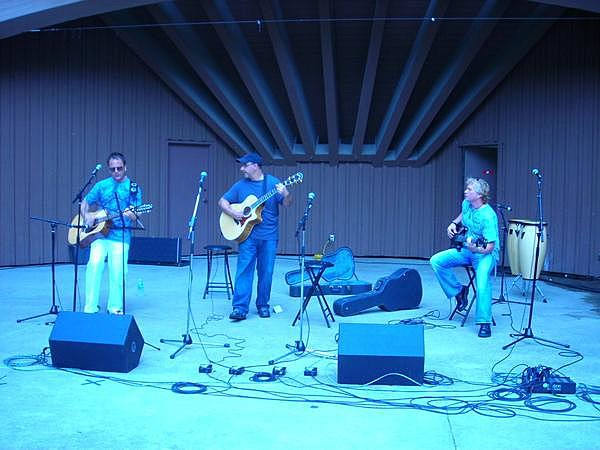 Timothy Edwards - Band playing at Sinnissippi Music Shell