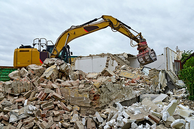 demolition of a residential house